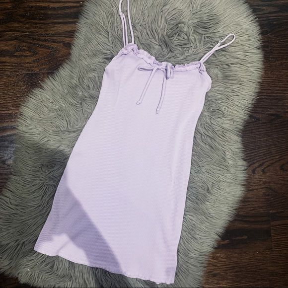 Urban Outfitters   Lilac Ribbed Mini Slip Dress